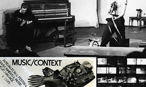 """Music Context"" poster from the archive"