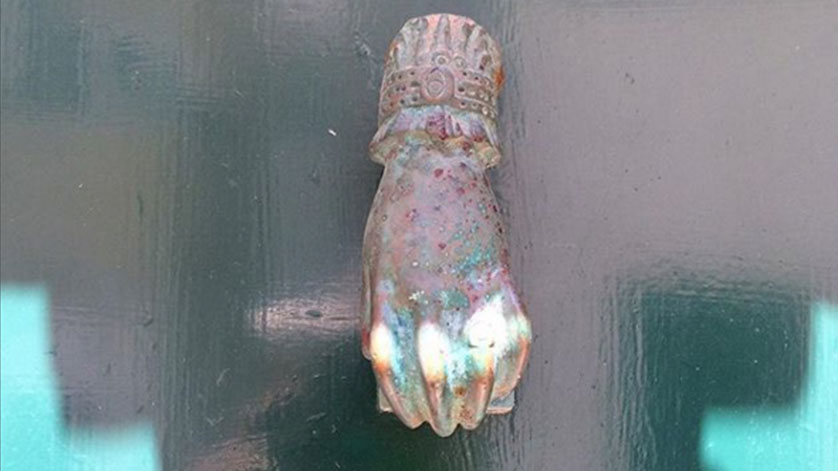 A door knocker - an image from the tiny sound project