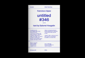 The 'untitled 346' booklet